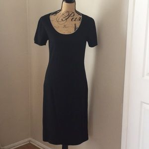 Malo black 100% cashmere pullover dress  6 Italy